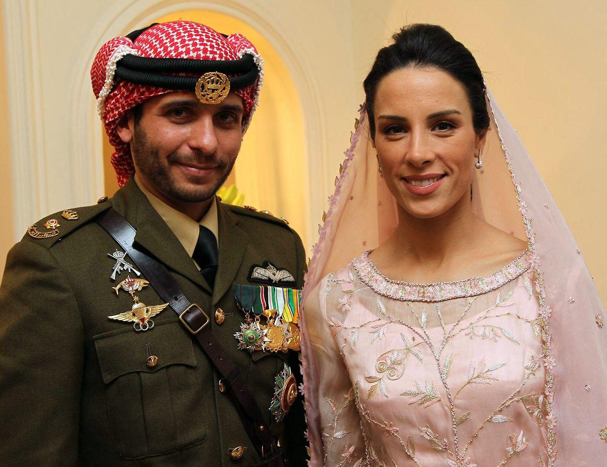 Prinz Hamsa und Prinzessin Basma Otoum bei ihrer Hochzeit im Jahr 2012.