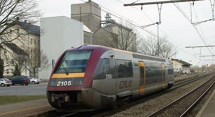 CFL 2105 en gare de Kleinbettingen