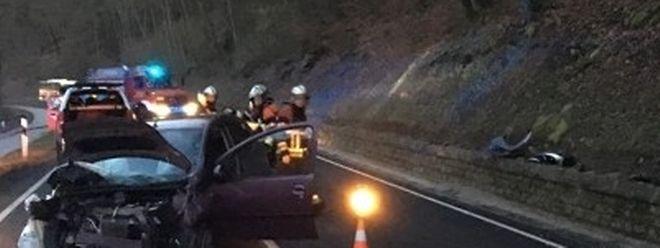 Die Strecke musste während der Rettungsarbeiten gesperrt werden.