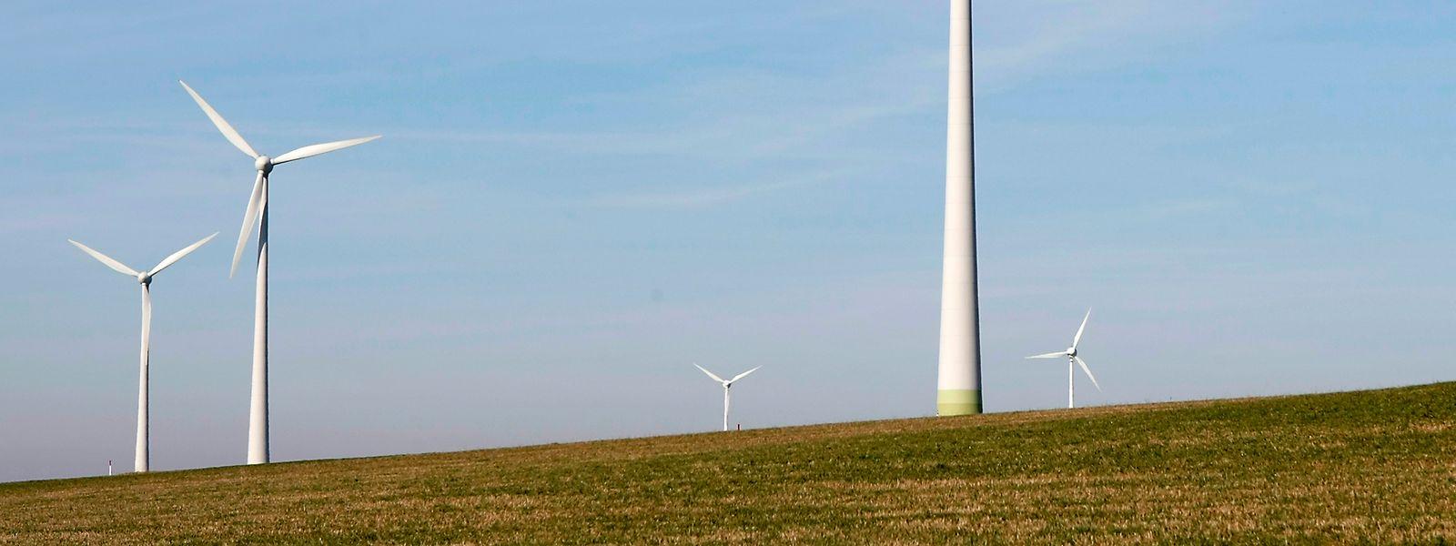 Der Windpark Kehmen-Heiderscheid im Norden Luxemburgs.