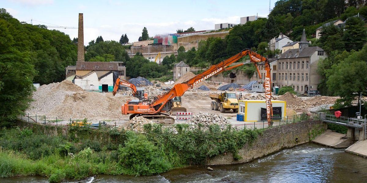 Derzeit läuft die Sanierung auf dem Industriegelände auf Hochtouren.