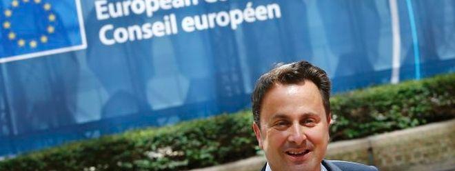 Xavier Bettel, le 25 juin dernier à son arrivée au Conseil européen.