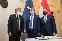 IPO , Chamber , Visite Thierry Breton und Nicolas Schmit , Commissaires Europeens , Acceuil Fernand Etgen , Foto:Guy Jallay/Luxemburger Wort