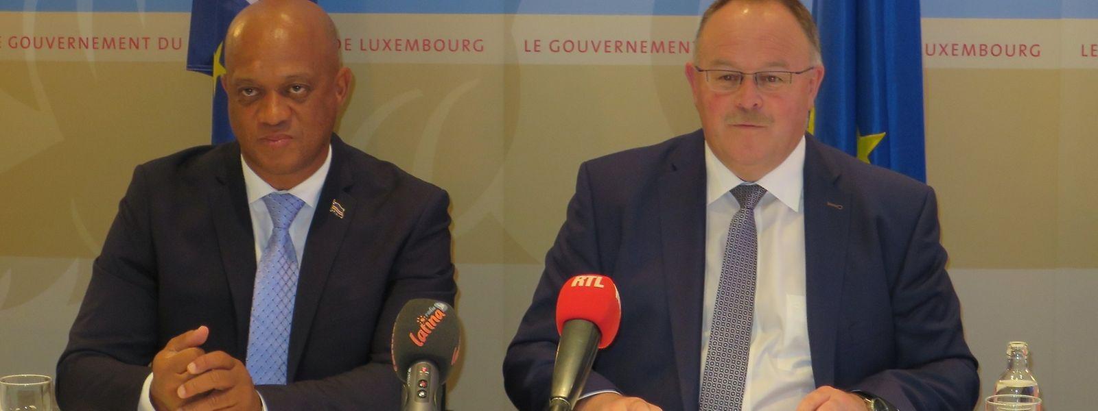 Luís Filipe Tavares e Romain Schneider qualificam as relações entre Luxemburgo e Cabo Verde como exemplares