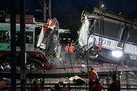 Am 14. Dezember 2016 kollidierten ein Güter- und ein Personenzug zwischen Bettemburg und Zoufftgen. Eine Person kam bei dem Unglück ums Leben. Das Bild zeigt die Aufräumarbeiten am Tag danach.