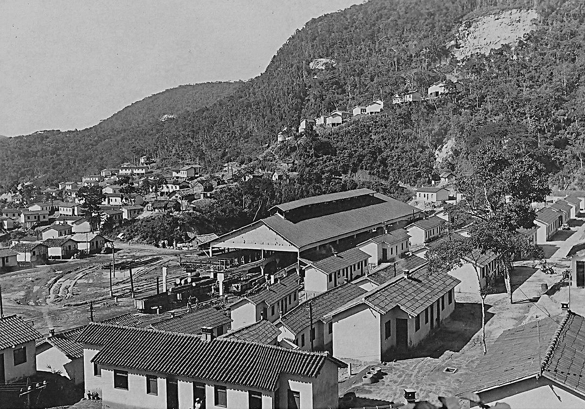 A cidade de João Monlevade no início dos anos quarenta.