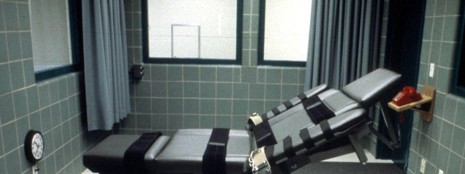 Hinrichtungsstuhl für tödliche Injektionen im Gefängnis in Terre Haute im US-Bundesstaat Indiana.