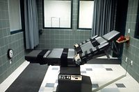 A table in the execution room at the U.S. federal prison in Terre Haute, Indiana, is pictured in this undated handout photo. Timothy McVeigh was executed June 11, 2001 by lethal injection at the federal prison in Terre Haute for the April 19, 1995 truck bombing of Murrah Federal Building in Oklahoma City that killed 168 and injured hundreds.    REUTERS/HO/Federal Bureau of Prisons