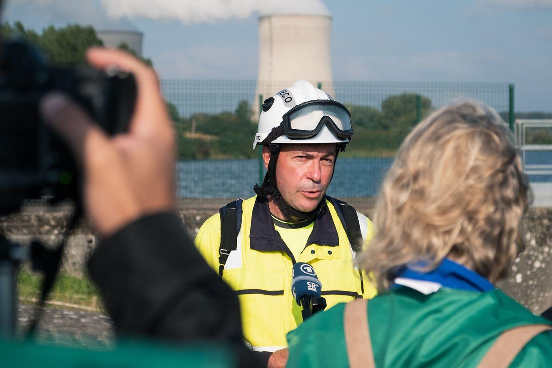 La création de la FARN (ici son chef des opérations Thierry Hugony) a été une des conséquences de la catastrophe de Fukushima.