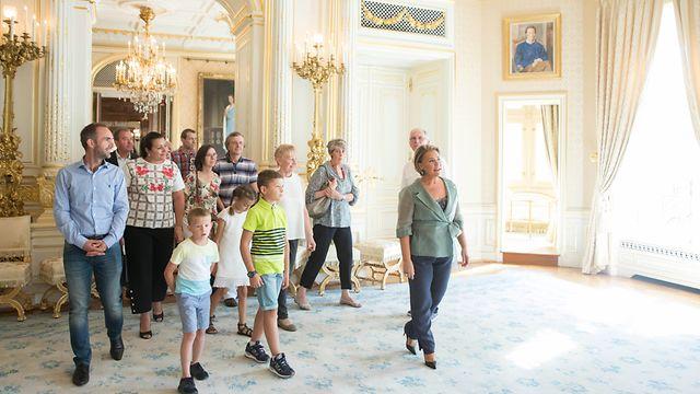 GuideForOneDay - im Palais mit der Großherzogin, La Grande Duchesse Maria-Teresa, le 12 Septembre 2018. Photo: Chris Karaba