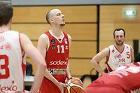 Basketball Total League Meisterschaft 2020-21 der Maenner zwischen der Sparta Bartringen und den Musel Pikes am 27.02.2021 Jean KOX (11 PIKES)