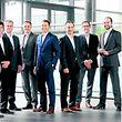 Das Investment-Team von Mangrove Capital Partners, v.l.n.r.: Hugo Mahieu, Michael Jackson, Willibrord Ehses, David Waroquier, Mark Tluszcz, Mauro Mariani, Hans-Jürgen Schmitz, Gérard Lopez.