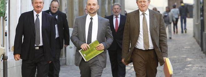 Die Top-Sozialisten (v.l.n.r.): Jean Asselborn (1), Romain Schneider (6), Etienne Schneider (7), Mars di Bartolomeo (2) und Alex Bodry (10) gehören zu den zehn beliebtesten Politikern des Landes.