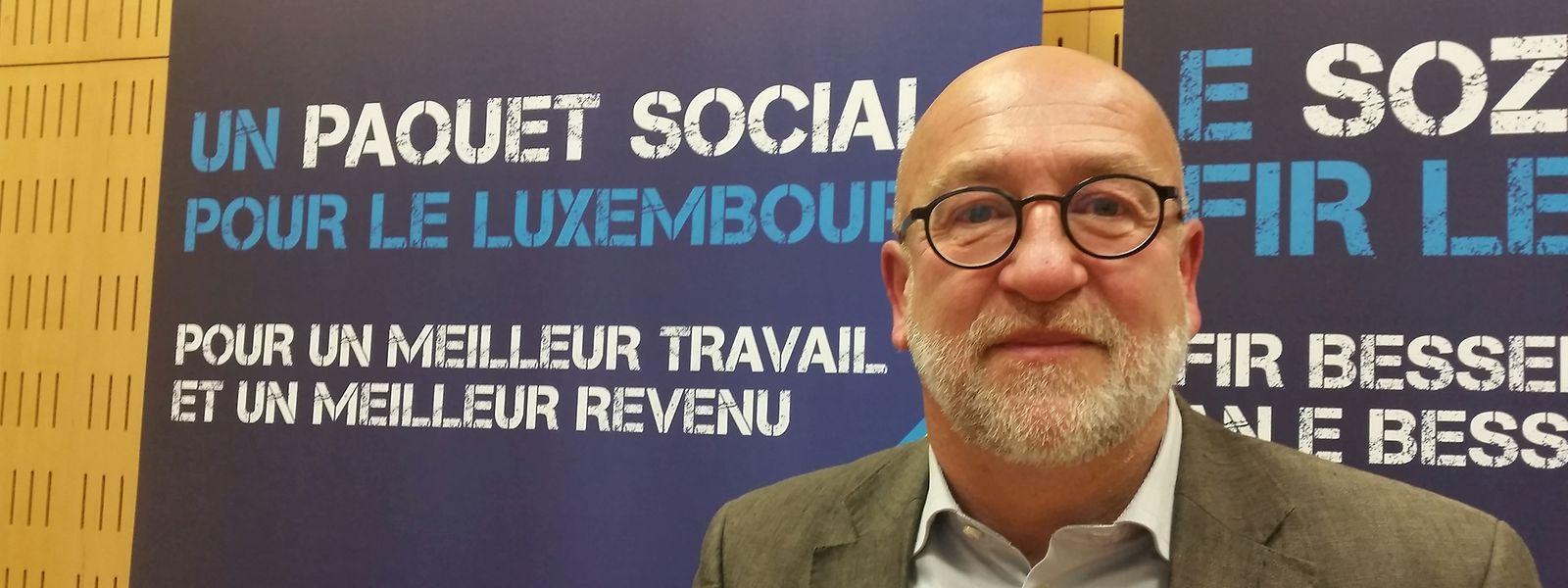 André Roeltgen, président de l'OGBL: «Il y a une contradiction grandissante entre les petits et moyens revenus d'une part et les hauts, voire très hauts revenus, d'autre part.»