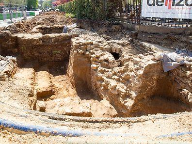 Die Ausgrabungen der ehemalien Glaciskapelle in Limpertsberg.