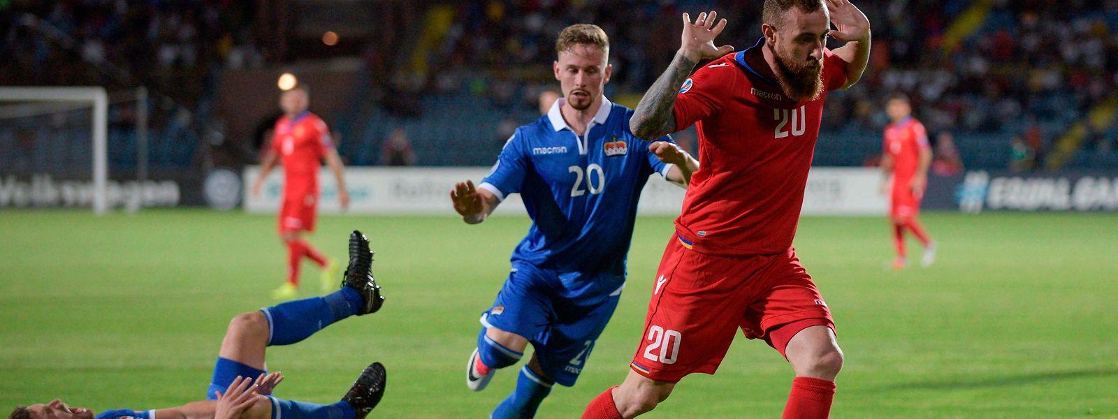 Alexandre Karapetian traf auch bereits am Samstag gegen Liechtenstein.
