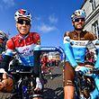 Bob Jungels et Ben Gastauer avant le départ de l'Amstel Gold Race 2018