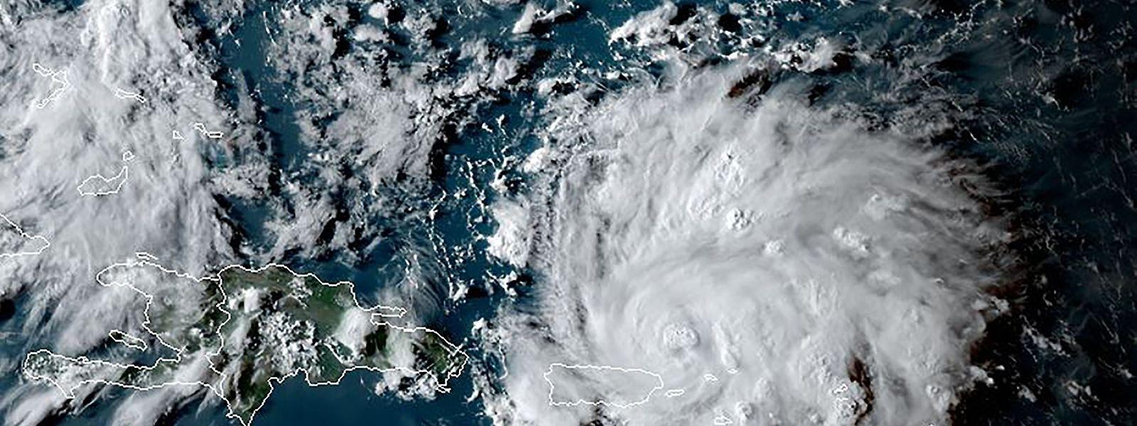 Ein Satellitenbild des Sturms Dorian.