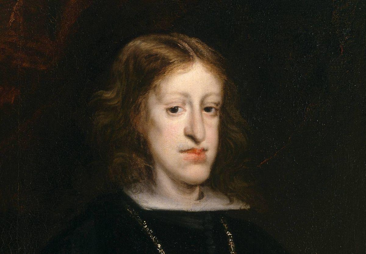 Retrato de Carlos II, datado de 1680, propriedade do Museu do Prado, em Madrid.