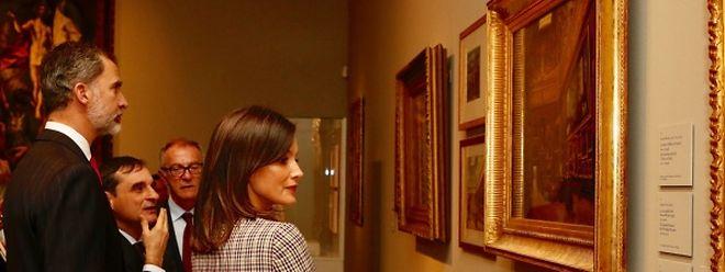 König Felipe und Königin Letizia bewunderten am Montag die Exponate der Sonderausstellung zum 200 Geburtstag des Kunstmuseums Prado.