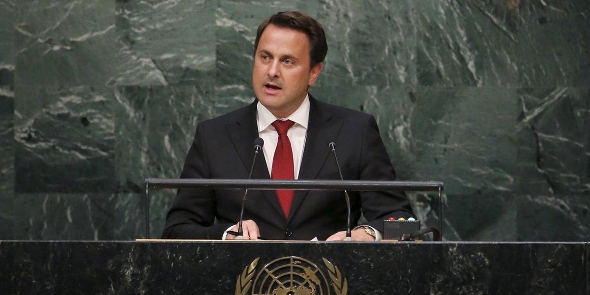 Xavier Bettel, en plénière du sommet des Nations unies sur le développement durable à New York en 2014