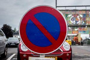 Parkverbot wegen Schuebermesse ,Glacis,Schobermesse.Foto:Gerry Huberty