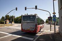 Lokales,Kreuzung in Frisingen. Ampelanlage für Busse.Foto: Gerry Huberty/Luxemburger Wort