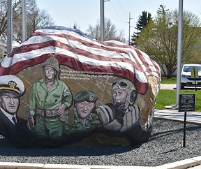 Rock of Freedom in Winterset, Iowa