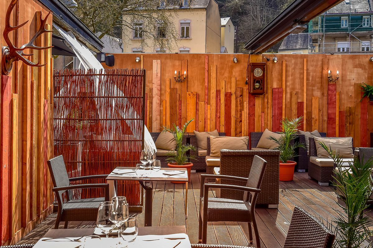 Ikki's enclosed terrace with more intimate tables is ideal for a date