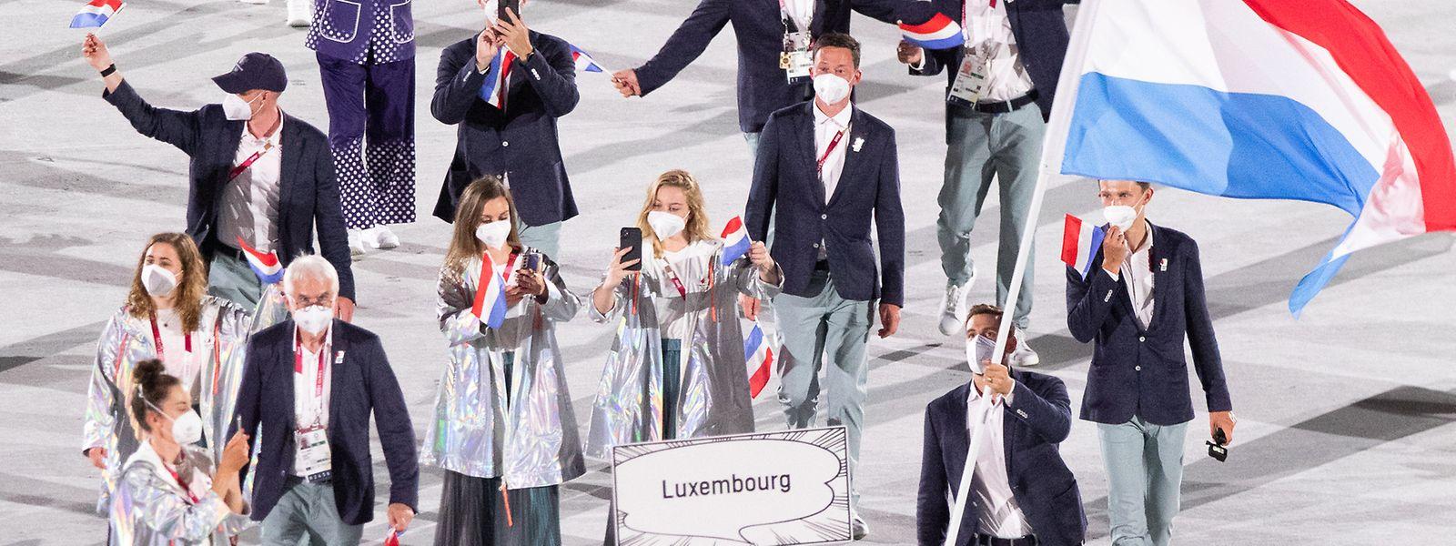 Einmarsch der Luxemburger Delegation.