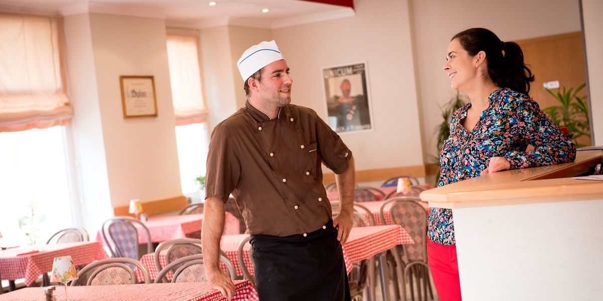 """Eva Dobay und Peter Loosz in ihrem Restaurant """"East Block"""" in Esch/Alzette."""