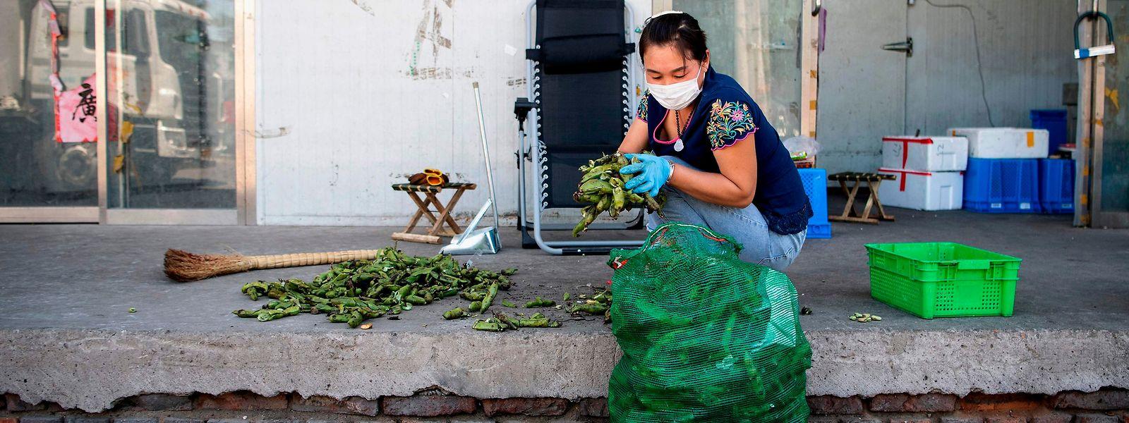 Novo surto foi detetado no mercado de Xinfadi, o principal mercado abastecedor da capital chinesa.