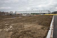 Lok , geplanter P&R neben neuem Fussballstadion , Cloche d`Or  , Foto: Guy Jallay/Luxemburger Wort