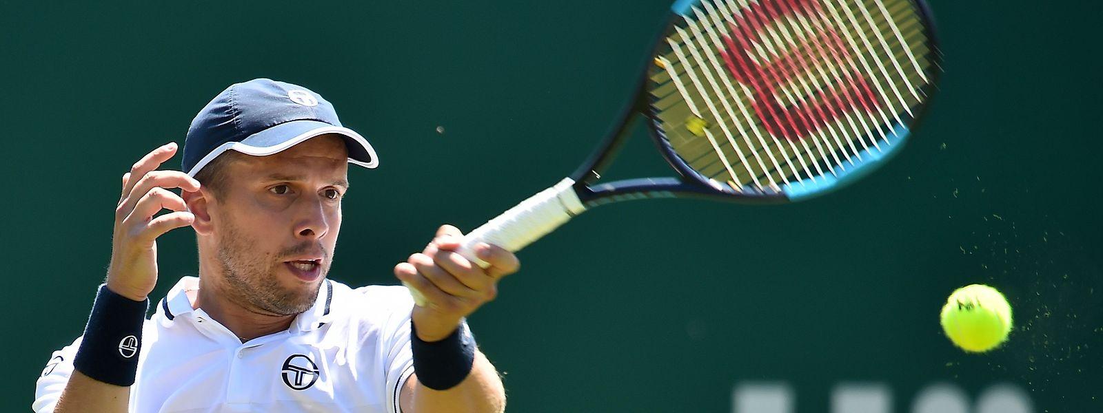 Gilles Muller a souffert pour écarter le jeune Américain Michael Mmoh, ce lundi au premier tour de Wimbledon