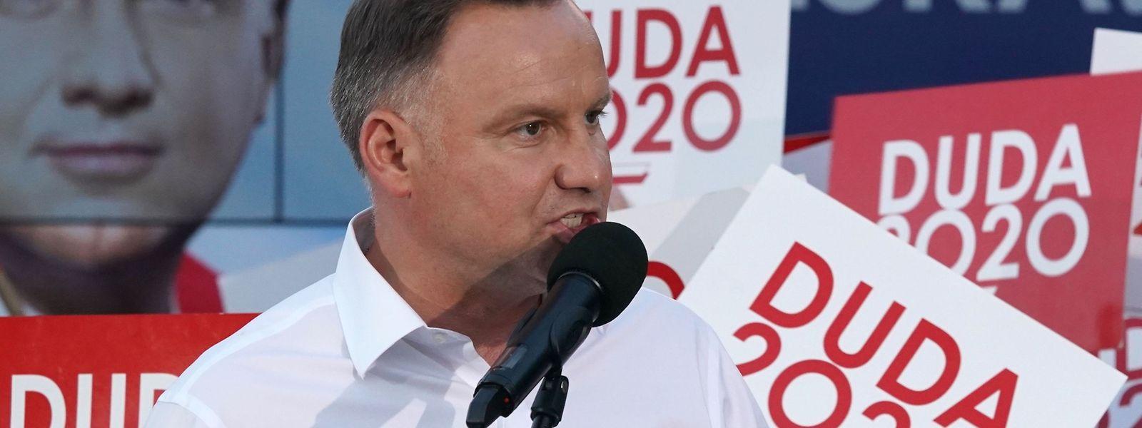 Andrzej Duda bei einer Wahlkampfveranstaltung.