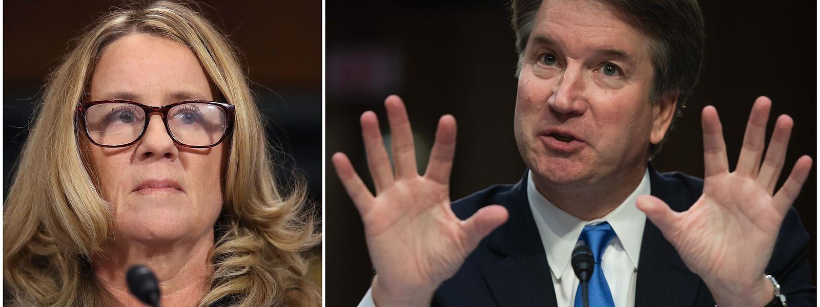 Christine Blasey Ford und Brett Kavanaugh werden vor dem Senat gehört.