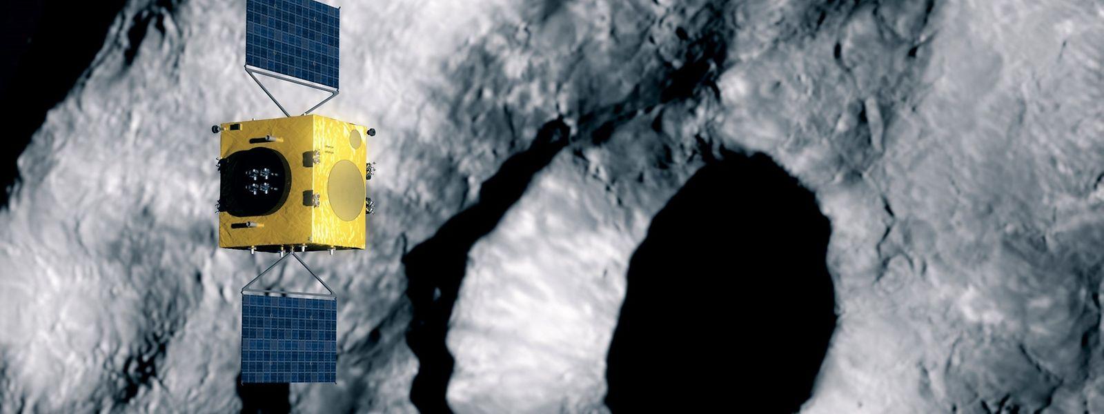 """Das zentrale Ziel der Hera-Mission besteht darin, die Effekte des Einschlags der NASA-Mission """"Dart"""" auf dem Asteroiden zu untersuchen."""