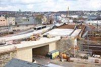 wort online.fr. Baustelle Pont Buchler,Tram,Bonnevoie. Foto: Gerry Huberty/Luxemburger Wort