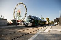 Schueberfouer 2018,Schobermesse,Tram,Tramverkehr Limpertsberg,Foto:Gerry Huberty