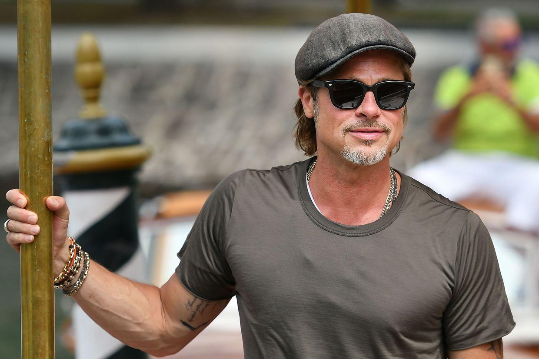 Schauspieler Brad Pitt landete genauso im Wassertaxi an wie...