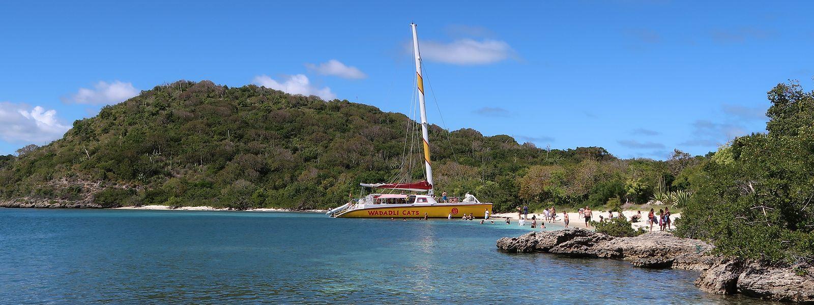 Einige Reisende nutzten den Aufenthalt in Antigua für einen Ausflug zu einer unbewohnten Insel mit perfekten Badebedingungen.