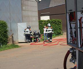 """Brandobjekt"""" Bauernhof Binck"""" Feuerwehren Gemeinde Rambrouch im Einsatz"""