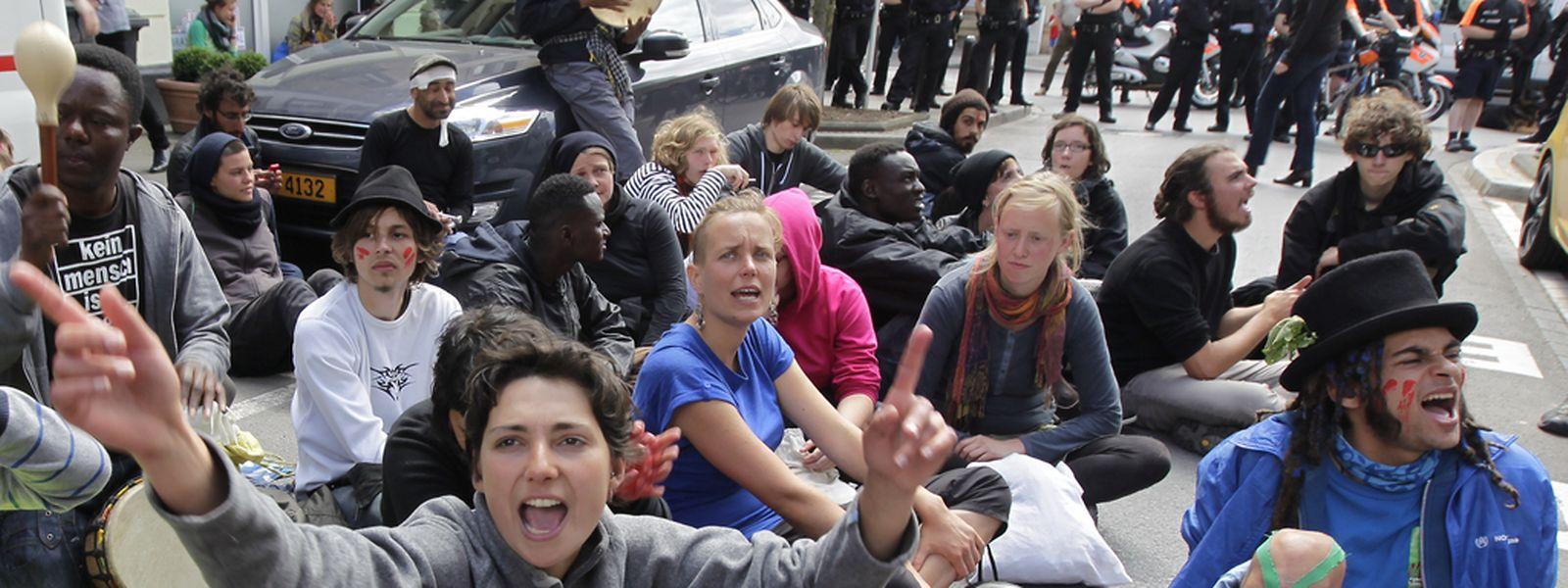 05.06.14 marche pour la liberte , marsch fuer die freiheit, protest, manifestation , luxemburg, rue glesener, photo: marc wilwert