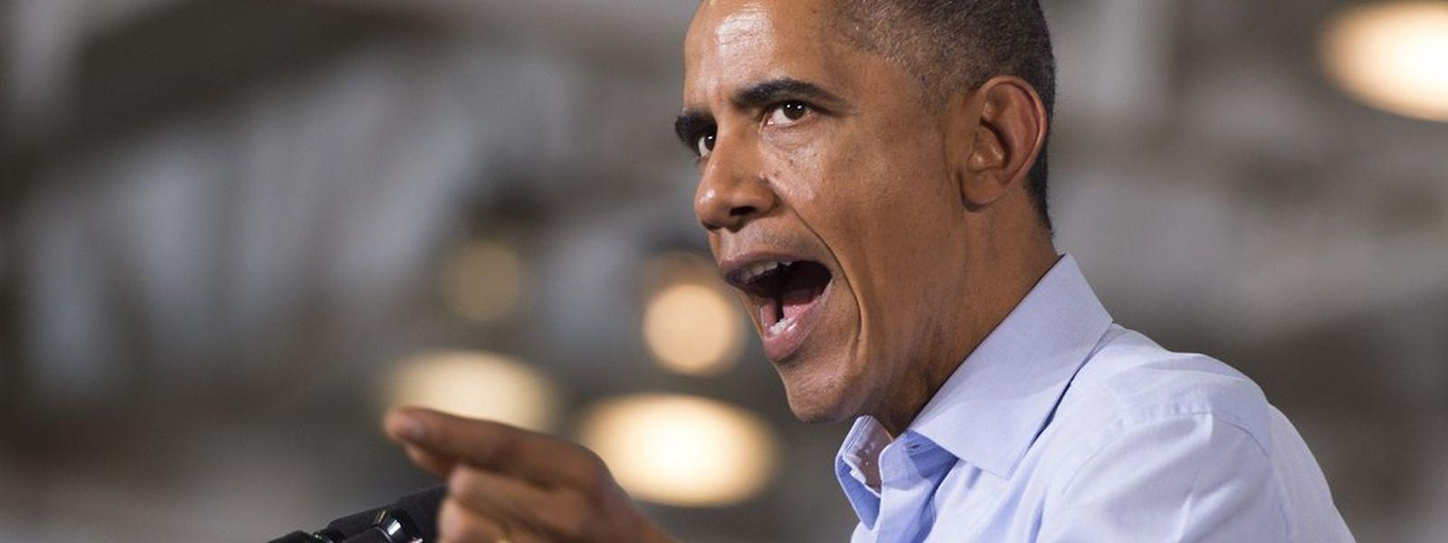 Im Einsatz für seine Partei: US-Präsident Barack Obama hielt am 1. November vor Unterstützern eine Rede in Detroit.