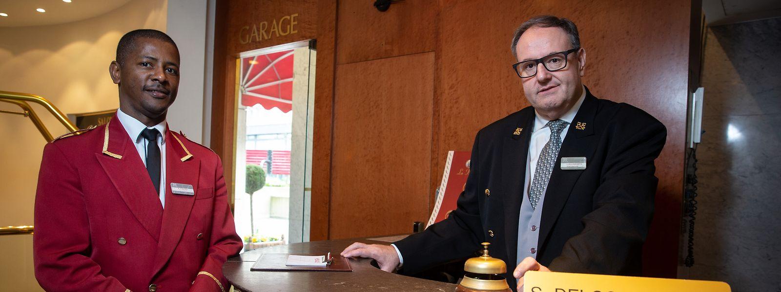 Monsieur Simon, trente ans de métier dans un cinq étoiles luxembourgeois.