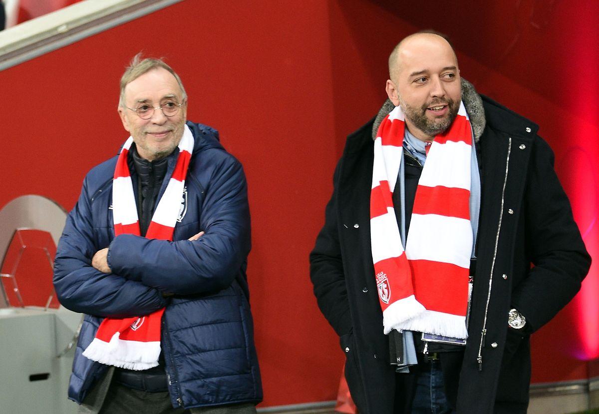 Lilles scheidender Präsident Michel Seydoux (links) und sein Nachfolger Gerard Lopez werden künftig häufiger im Stade Pierre-Mauroy zu sehen sein.