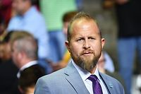 (FILES) In this file photo taken on October 02, 2018 Trump 2020 campaign manager Brad Parscale is seen before the start of a rally by US President Donald Trump at Landers Center in Southaven, Mississippi. - President Trump announced late July 15, 2020, that he is replacing Brad Parscale as his campaign manager with longtime political aide Bill Stepien. (Photo by MANDEL NGAN / AFP)