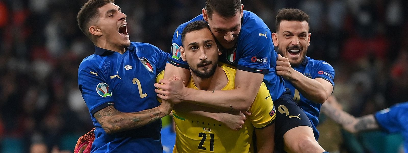 Gianluigi Donnarumma wird zum italienischen Helden im Elfmeterschießen.