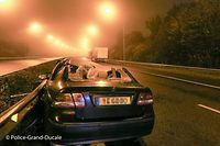 Der Autofahrer wurde bei dem Auffahrunfall lebensgefährlich verletzt.
