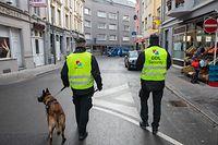 Lokales, Sicherheitsbeamter Quartier Gare, Agent de Sécurité, GDL Security, Foto: Chris Karaba/Luxemburger Wort